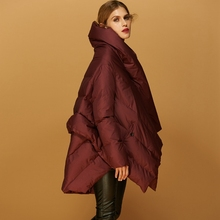 2018 Winter new arrival Down Jacket European womens fashion cloak design loose down coat for women