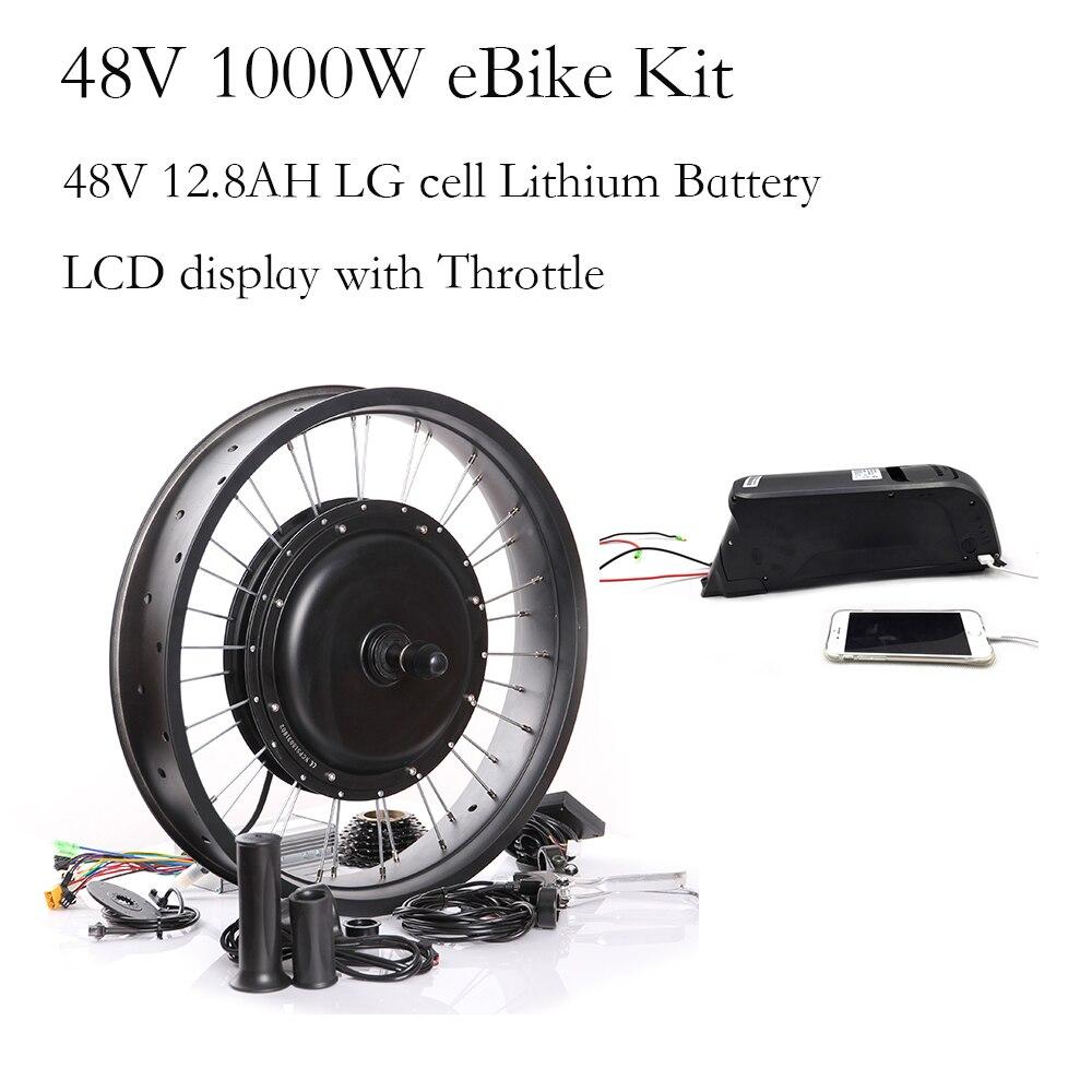 Fat Bike 48v 1000w eBike Kit with battery