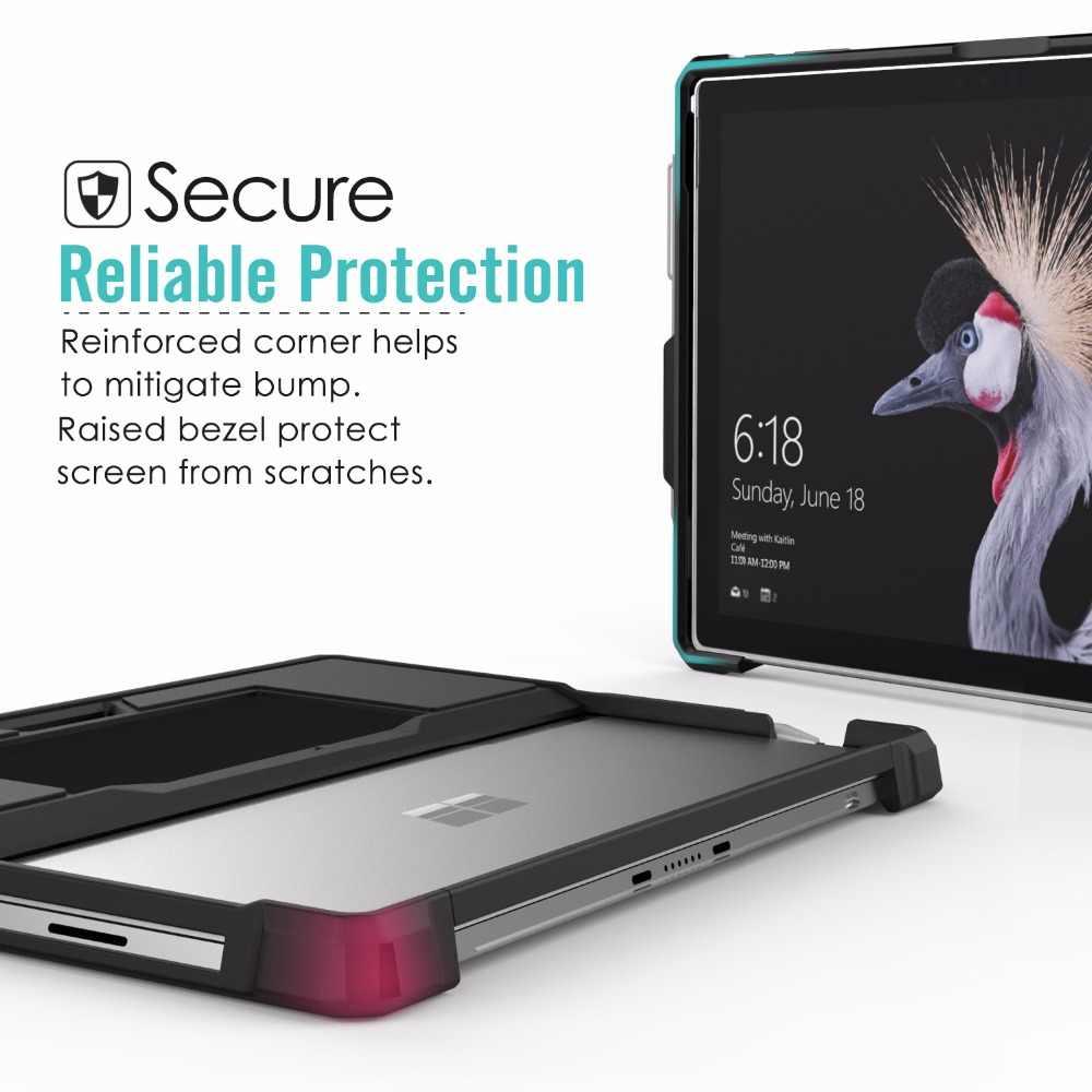 Funda para Microsoft Surface Pro 6 Pro 5 4 Pro 2017 Pro LTE nuevo Pro 12,3 funda protectora todo en uno con soporte de pluma