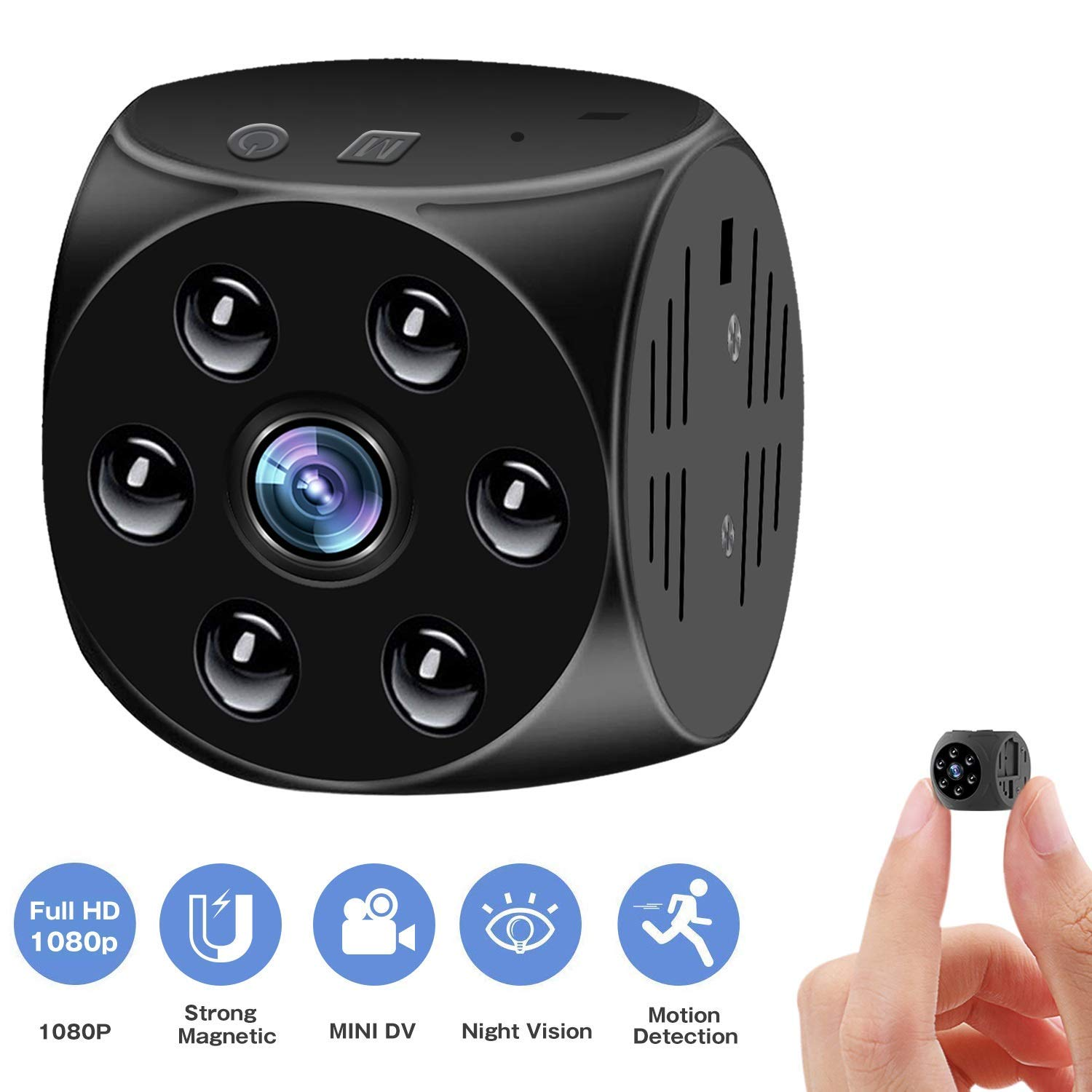 1080P HD Mini Camera Portable Home Security Cameras Covert Nanny Cam Video Recorder Camcorder with Night Vision Motion Detection