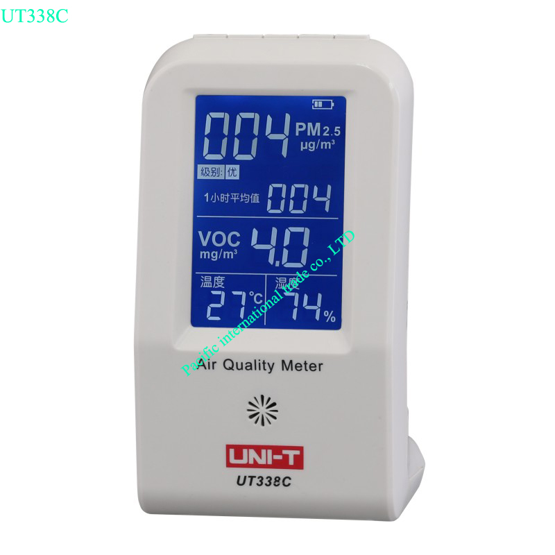 Air Quality Meter Uni-t UT338C VOC formaldehyde detector PM2.5 monitoring tester dust haze Temperature Humidity Moisture Meter digital indoor air quality carbon dioxide meter temperature rh humidity twa stel display 99 points made in taiwan co2 monitor