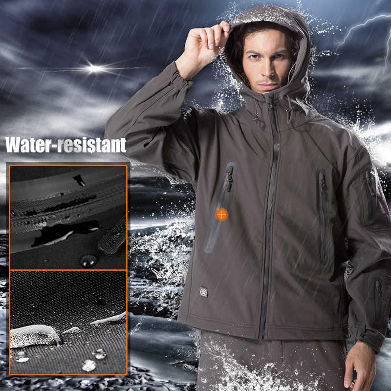 を無料の兵士屋外キャンプインスタント防水ウインドブレーカーソフトシェルジャケットの男性のコート熱生き抜く服大型 us サイズ