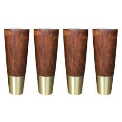 4,8x15x2,8 см простые Стиль ножки стола резиновые ножки древесины корпусной мебели ноги с железной пластиной и винты