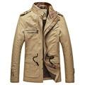 Бесплатная Доставка Осенью и зимой одежда мужская повседневная хлопок длинный толстый ватник пальто куртки Тонкий пиджак мужской 120yw1