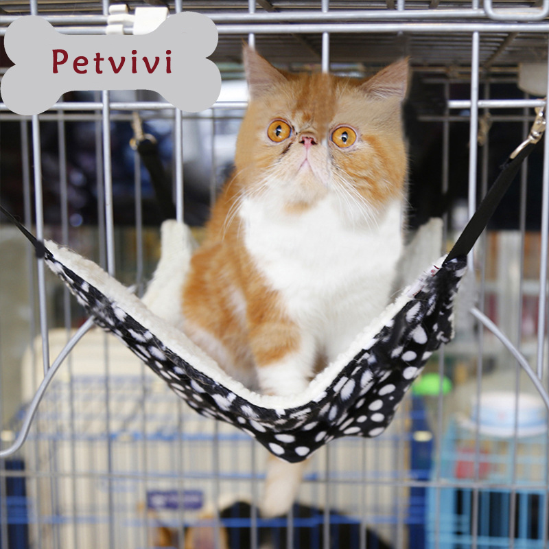 Under Chair Cat Hammock Rocking Wood Dropship Hot Fleece Warm Bed Puppy Hanging In Cage Cushion