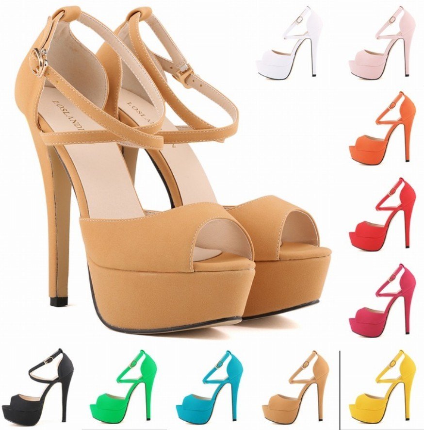 Candy Color colorful font b womens b font peep open toe platform criss cross strappy ankle