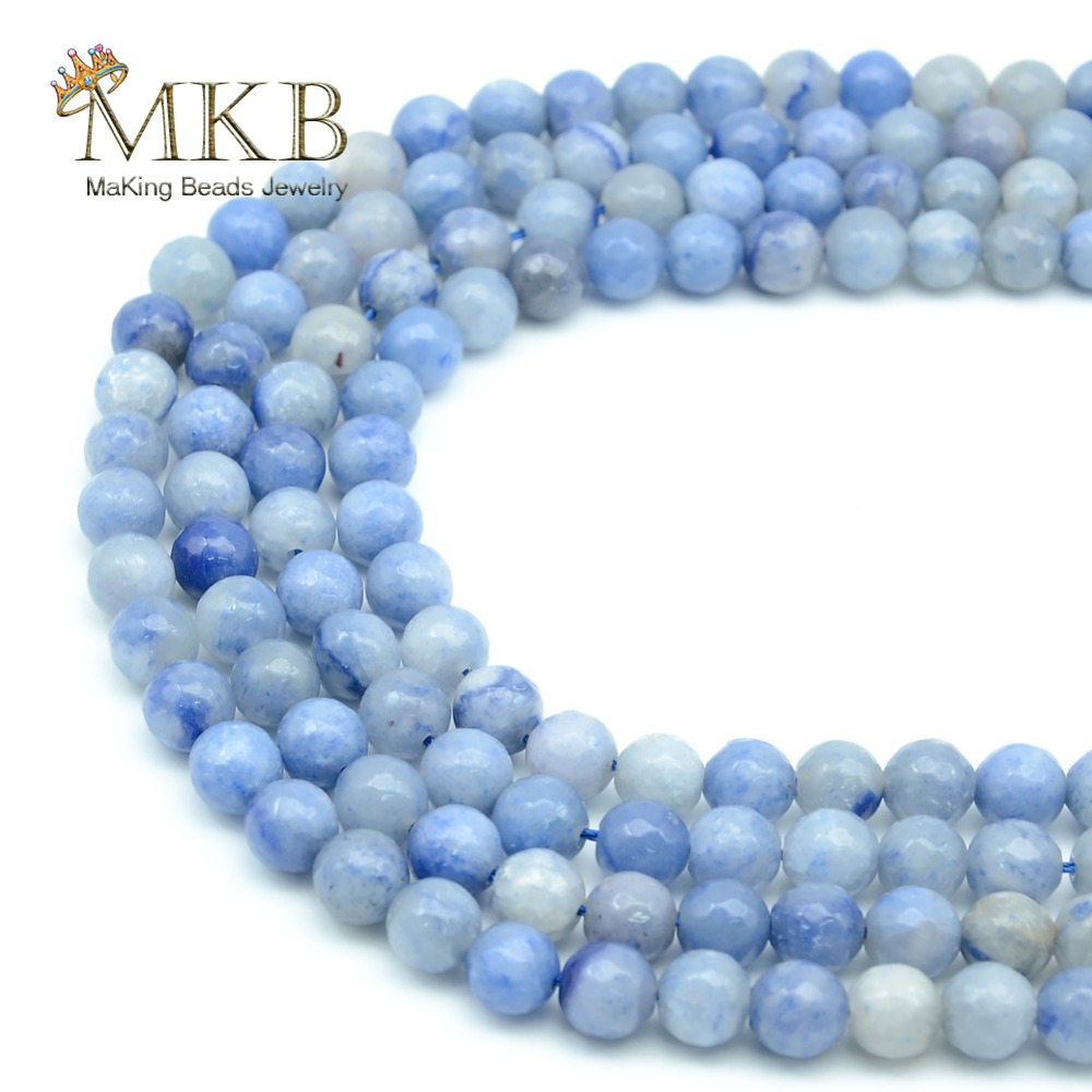 Jewelry & Accessories Perles Blue Aventurine Stone Natural Round Beads For Jewelry Making 4 6 8 10 12mm Spacer Beads Women Diy Bracelet Wholesale