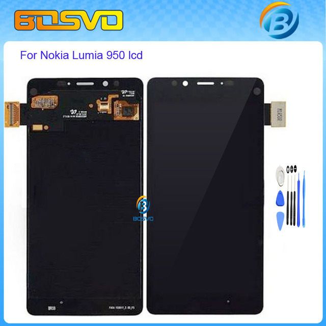 Substituição de alta qualidade para nokia lumia 950 display lcd com tela de toque digitador assembléia negro cor 4.8 polegada + ferramentas gratuitas