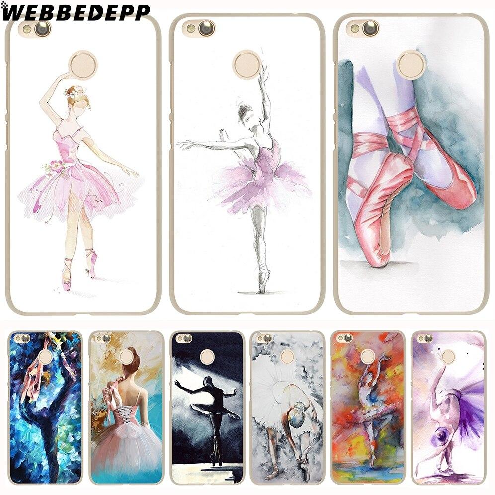 WEBBEDEPP ballet dancer watercolor painting Phone Hard Case for Xiaomi Mi 8 SE 5S 5X 6X 6 5 Mi A1 A2 Lite F1 Mix 2S Cover