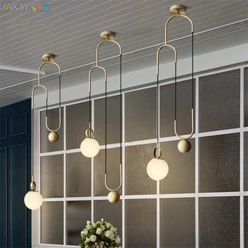Moderno In Metallo industriale Lampade a sospensione per la Sala da pranzo cucina Camera Da Letto Salotto apparecchi di Sollevamento Palla di Vetro lampada a Sospensione
