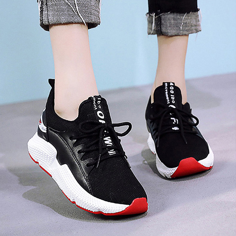 LAKESHI Fashion 2018 Women Vulcanized Shoes Women Casual Sneakers White Lace Up Shoes Ladies Breathable Chunky Shoes Creepers women platforms lats shoes 2015 casual shoes ladies fashion footwear creepers lace up single shoes mujer zapatillas de deporte
