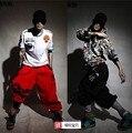 Nuevo 2014! algodón hombres de la marca HipHop sueltan los pantalones del deporte Harem Parkour pantalones tallas grandes pantalones pantalones casuales! M-5XL envío gratis