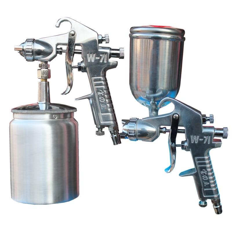 400ml 1000ml air spray gun sprayer w71 airbrush alloy for Best automotive paint gun