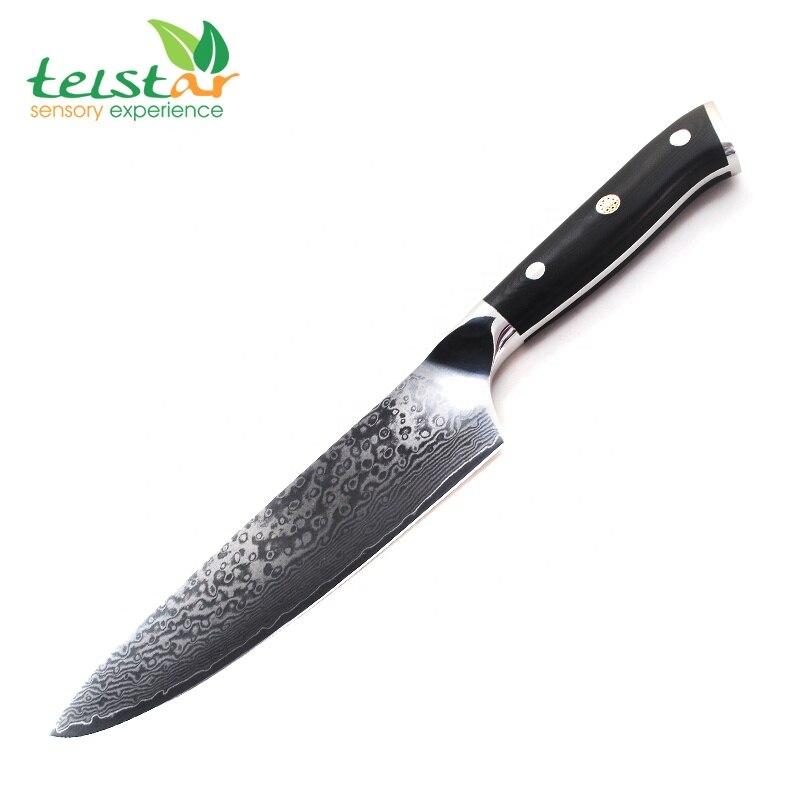 Qualité Japon VG10 Damas couteau de cuisine en acier G10 poignée + plum blossom meilleur cadeau chef couteau sharp Couperet Santoku cuire outil