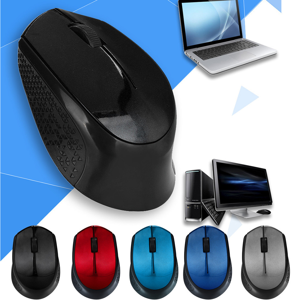 2.4ghz Silent Design Wireless Optical Mouse/Mice + USB 2.0 Receiver For Laptop