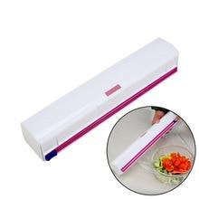 Food Wrap Dispenser Plastic Cutter Foil Cling Film Storage Holder Box Kitchen Supplies 8 DC112