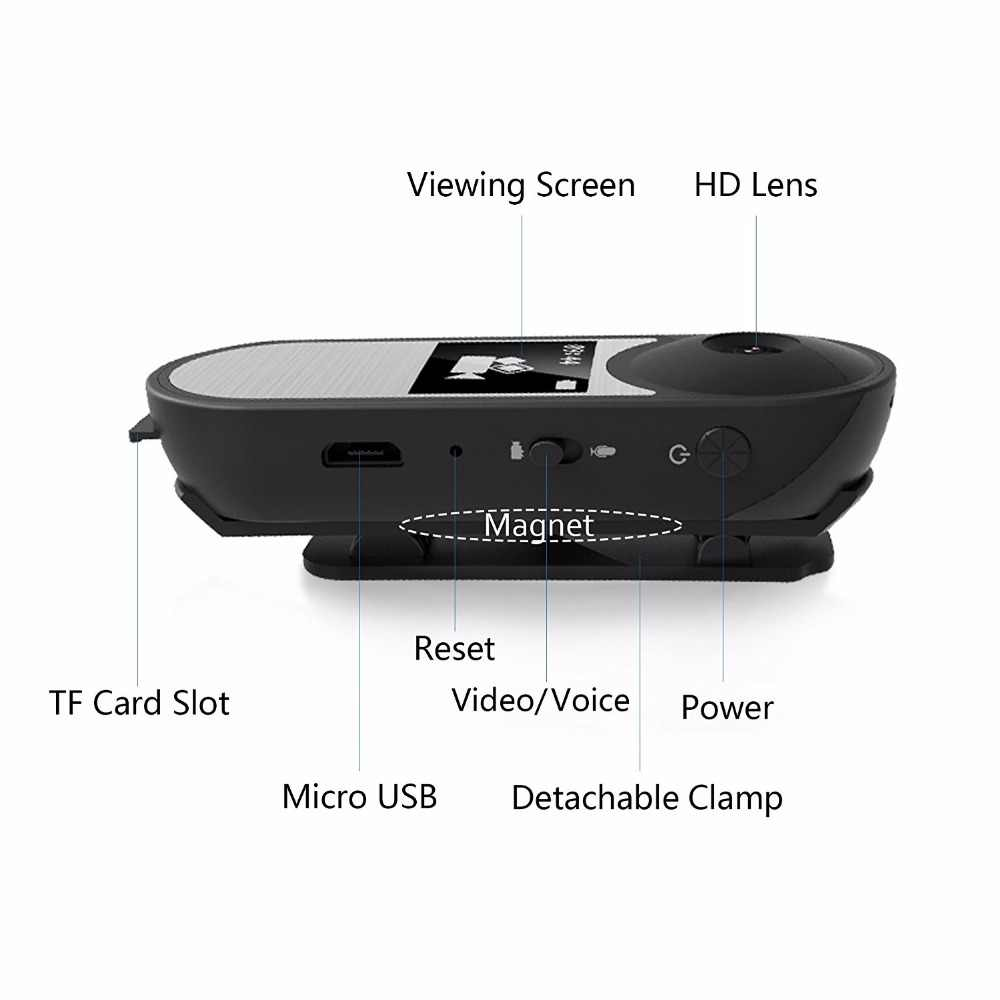 a7f22df6b85d ... 008 Wearable Magnetic Mini Camera Full HD 1080P Micro Camera For Home  Office Security Camera Mini ...