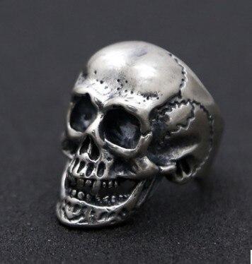 adjustable ring silver 925 ring skull rings men