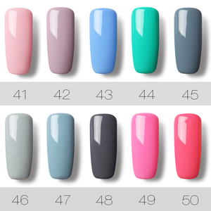 Image 5 - ROSALIND 58PCS/LOT Pure Color Nail Gel Fast Delivery Can Be Soak Off Healthy and Eco friendly UV LED Gel Nail Gel Polish