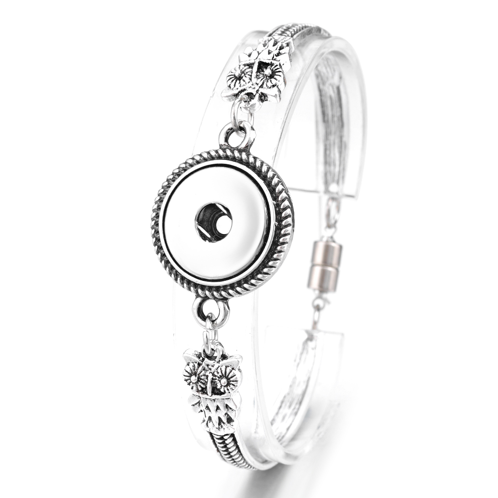 VOCHENG WRAP Snap Button Charms Bracelet 5 Styles Magnet