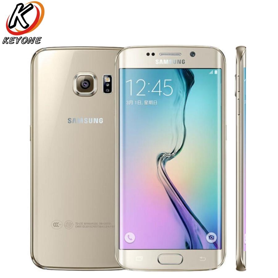 New Samsung GALAXY S6 Edge G9250 LTE Mobile Phone 5 1 3GB RAM 64GB ROM Octa