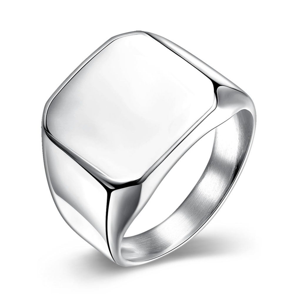 925 sterling silver special sale mens ladies ring, smooth square fashion jewelry wholesale ring silver R023-01