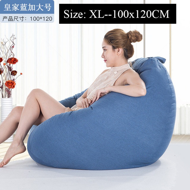 Magnificent Us 10 7 25 Off Bean Bag Sofa Cover Chairs Pouf Puff Couch Cotton Linen Cloth Lazy Beanbag Sofas Without Filling Lounger Seat Tatami Furniture In Andrewgaddart Wooden Chair Designs For Living Room Andrewgaddartcom