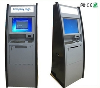 Accept currency and return changes Floor standing self service Bill to Bill Currency Management touch kiosk