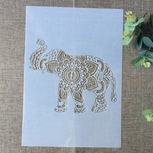Buy 29*21cm Elephant Up Nose DIY Layering Stencils Wall Painting Scrapbook Coloring Embossing Album Decorative Paper Card Template directly from merchant!