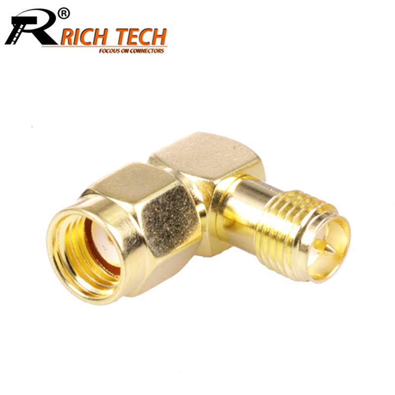 100pcs//lot RP TNC Male to RP SMA Female Connector Copper RP SMA Female to RP TNC Male RF Adapter R Connector