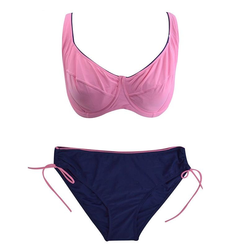 HTB14iXBX8OD3KVjSZFFq6An9pXal Polovi Sexy Feather Plus Size Swimwear Women Push Up Swimsuit Large Size Striped Mid Waist Bikinis De Las Mujeres 2019 Beachwear