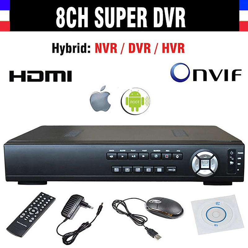 New CCTV DVR 8 Channel H.264 8CH 720P AHD Super SDVR / HVR/ NVR 4in1 Video Recorder support Onvif 1080P HDMI OutputNew CCTV DVR 8 Channel H.264 8CH 720P AHD Super SDVR / HVR/ NVR 4in1 Video Recorder support Onvif 1080P HDMI Output