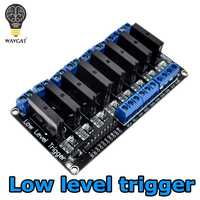 WAVGAT 8 Channel 5V DC Relay Module 250V2A 5V 8 Channel OMRON Level Solid State Relay Module Low level trigger