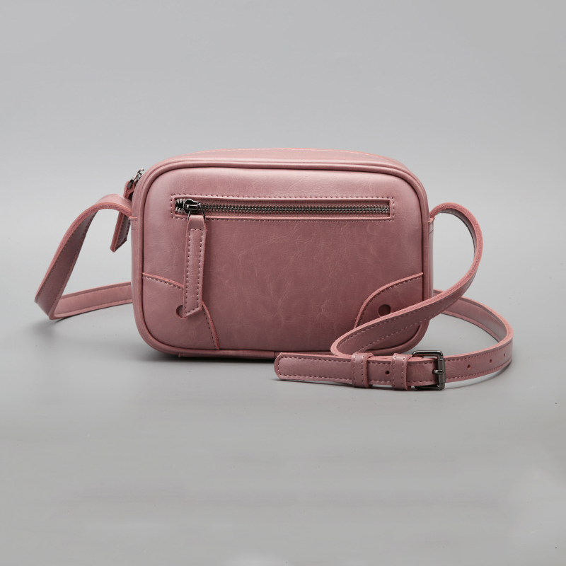 Simple high-quality imported soft Calfskin women messenger bags Comfortable and convenient zipper women Shoulder & Crossbody Bag stylish and luxurious oval crossbody bags for women soft lychee calfskin with unique locks decorated women messenger bags