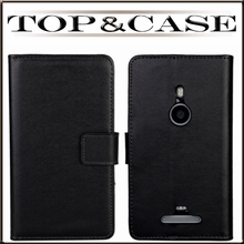 Lumia 925 Case,2014 New Cell Phone Case, Luxury Wallet Flip Genuine Leather Case For Nokia Lumia 925 With Card Holde and Stand