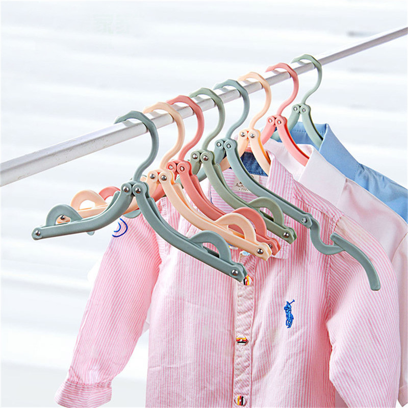 TTLIFE Folding Hangers Portable Travel Clothes Racks Home Windproof Clothes Drying Racks Random Color