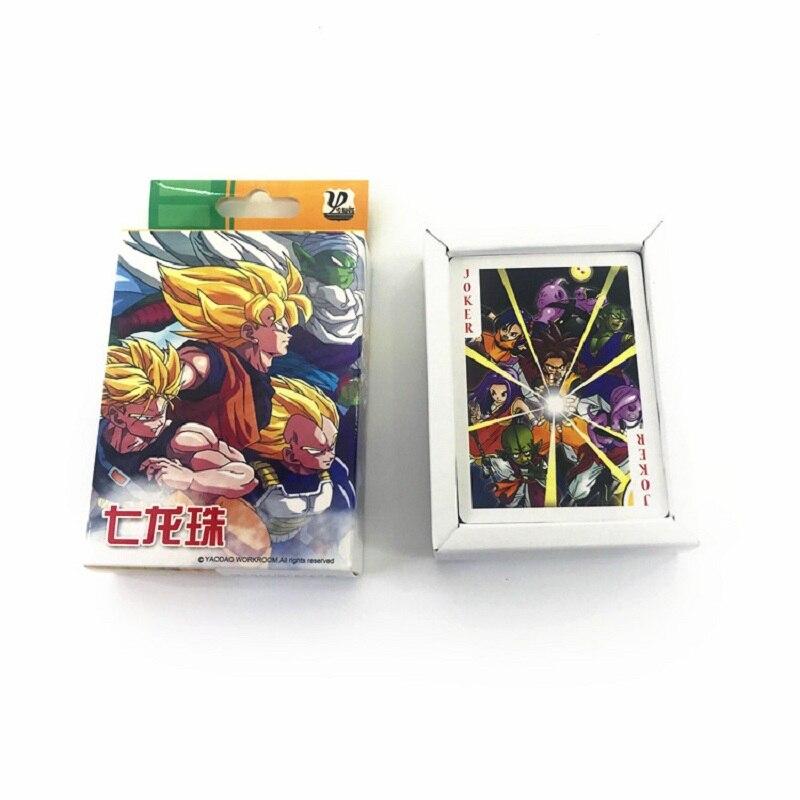 54 Sheets/Set Anime Dragon Ball Poker Cards Super Saiyan Game Collection Card Postcard Anime Around
