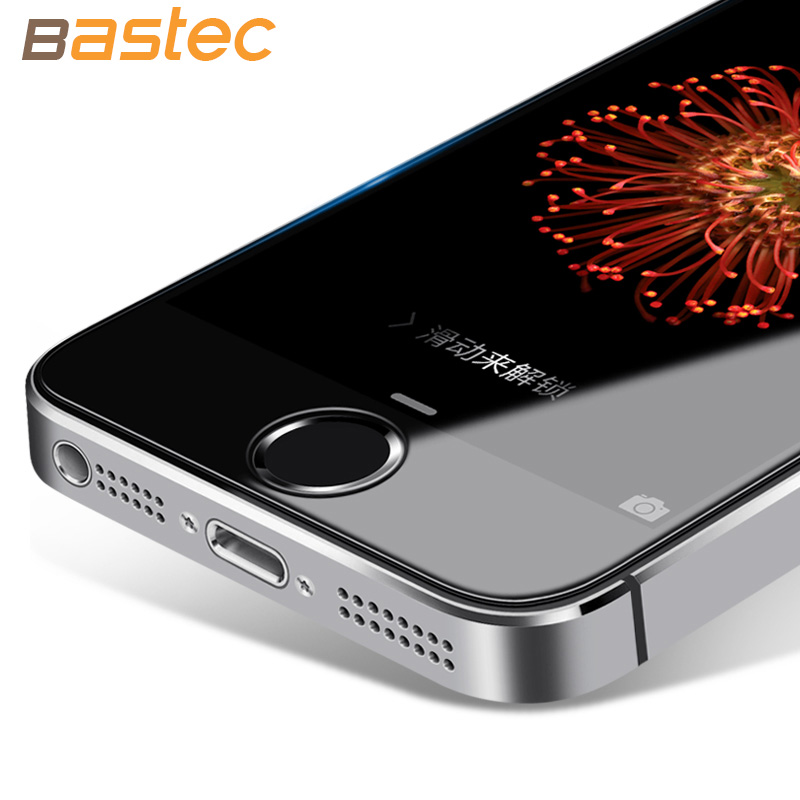 [2-Pack] For Apple iPhone 5 Tempered Glass Film Bastec 9H Hardness  HD  Tempered Glass Screen Protector for iPhone 5s 5 SE