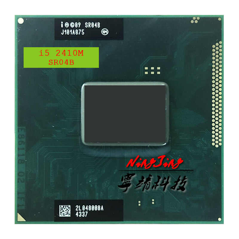 Intel Core I5-2410M I5 2410M SR04B 2.3 GHz Dual-Core Quad-Thread Prosesor CPU 3M 35 watt Soket G2/RPGA988B