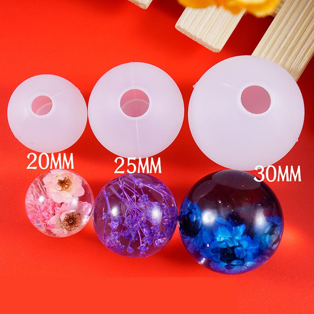 Quartz Drop Ball Silicone Mold Mould For Jewelry Making DIY Handmade Necklace DIY Accessory Valentine's Day Present