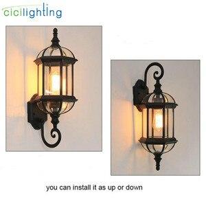 Image 2 - Luz de pared al aire libre, lámpara de pared del porche de la puerta delantera impermeable, aplique del hogar Decoración interior iluminación lámpara patio jardín