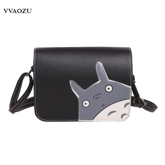 b378391e2f Mode Totoro Mini sac à main femmes PU bande dessinée rabat sacs à  bandoulière pour filles