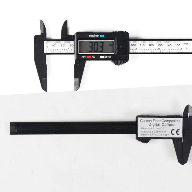Vernier Digital Electronic Caliper Carbon Fiber Composite 6 inch 150 mm