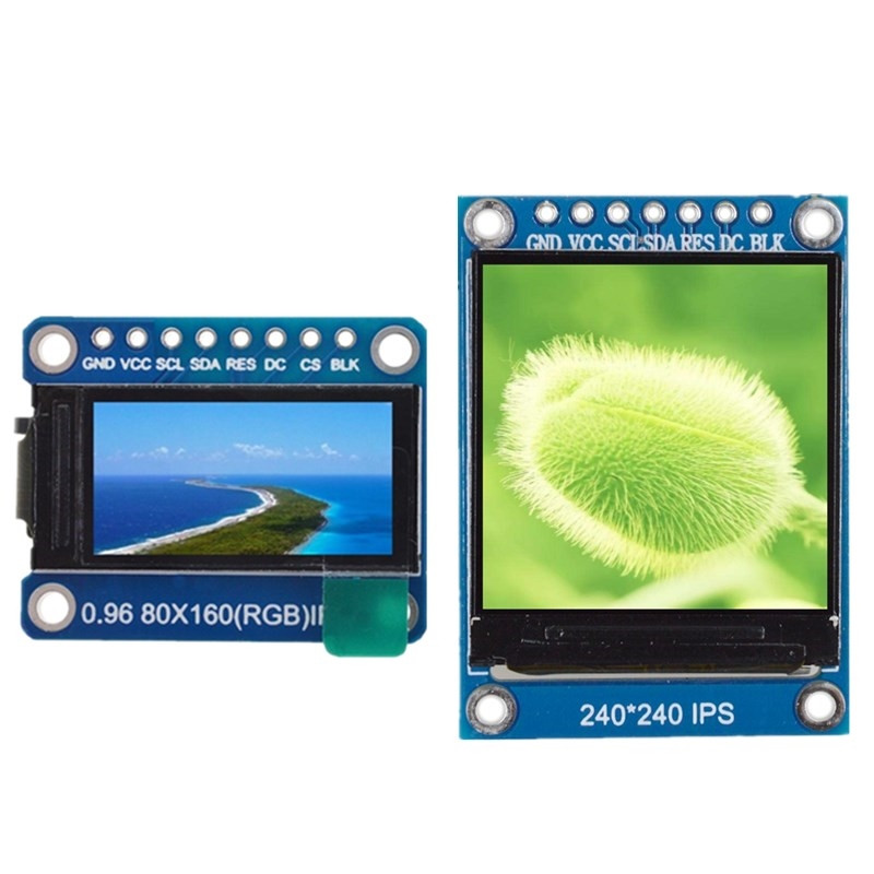 TFT Display 0.96 / 1.3 Inch IPS 7P SPI HD 65K Full Color LCD Module ST7735 / ST7789 Drive IC 80*160 240*240 (Not OLED)