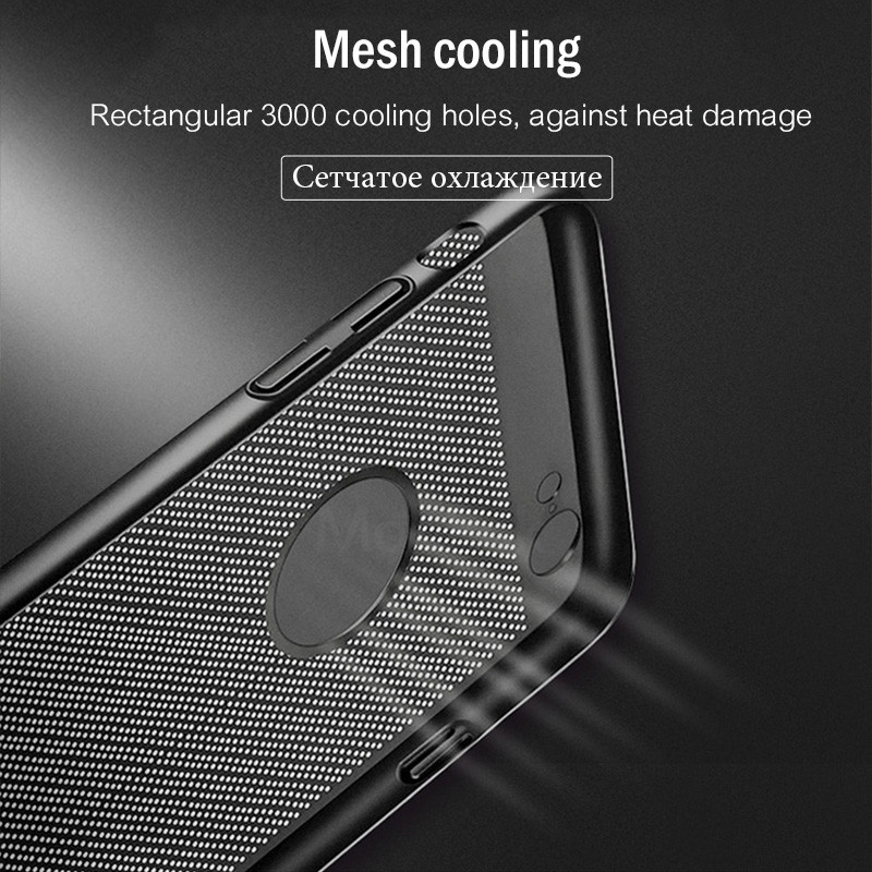 Heat Dissipation Protective Iphone 7 6 6S Plus 6 7 Cool Back Cover