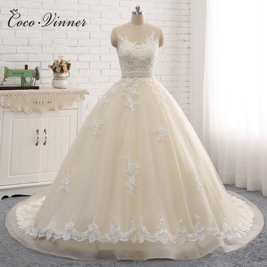 New Arrival Sexy A-Line Lace Wedding Dress 2019 Romantic Robe De Mariage Vestido De Noiva Sheer Backless Bride Dresses W0047