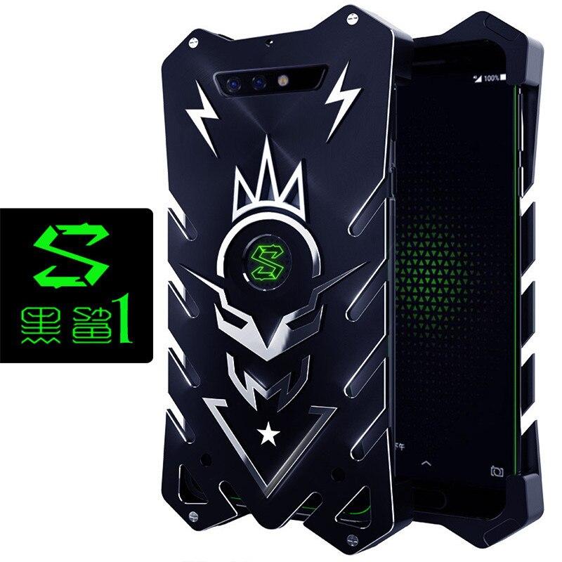 Zimon Metal Armor Cases for Mi Black Shark 2 Hleo Series Aluminum Cover for Xiaomi Black Shark Blackshark 1 2 Helo Phone Housing