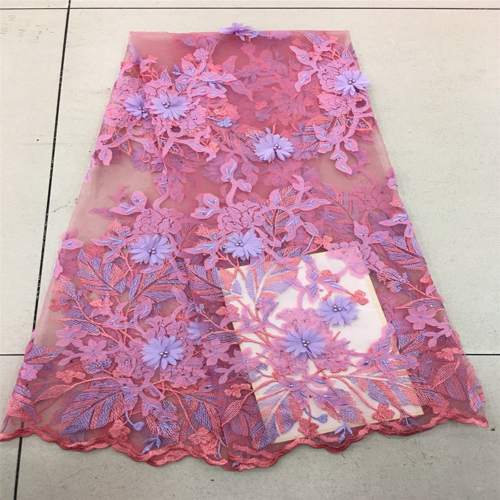 HFX 2018 New African 3D Flower Lace Fabric Lovely Fairy Floral French Tulle Lace Fabric for Woman party X194-2HFX 2018 New African 3D Flower Lace Fabric Lovely Fairy Floral French Tulle Lace Fabric for Woman party X194-2