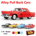 Metal funde automóviles de juguete, alta simulación de juguete de coches de época, 1:32 modelos de automóviles de aleación, tire hacia atrás de moviles. musical, envío gratis