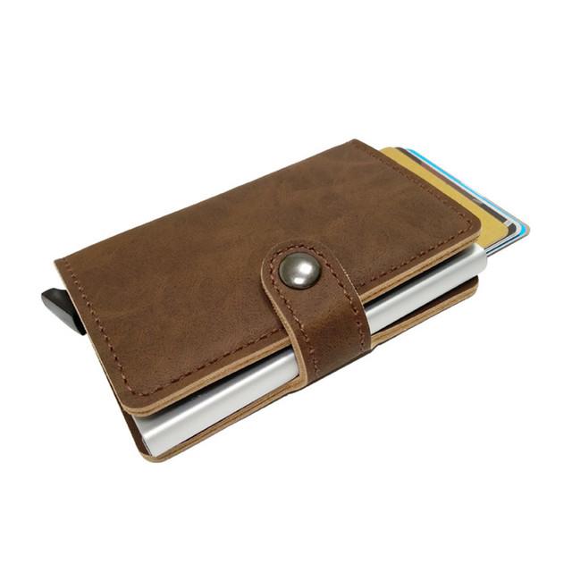 Slim secure wallet – RFID blocking card holder housing – Automatic card popup – Slymaoyi – Single housing – Black